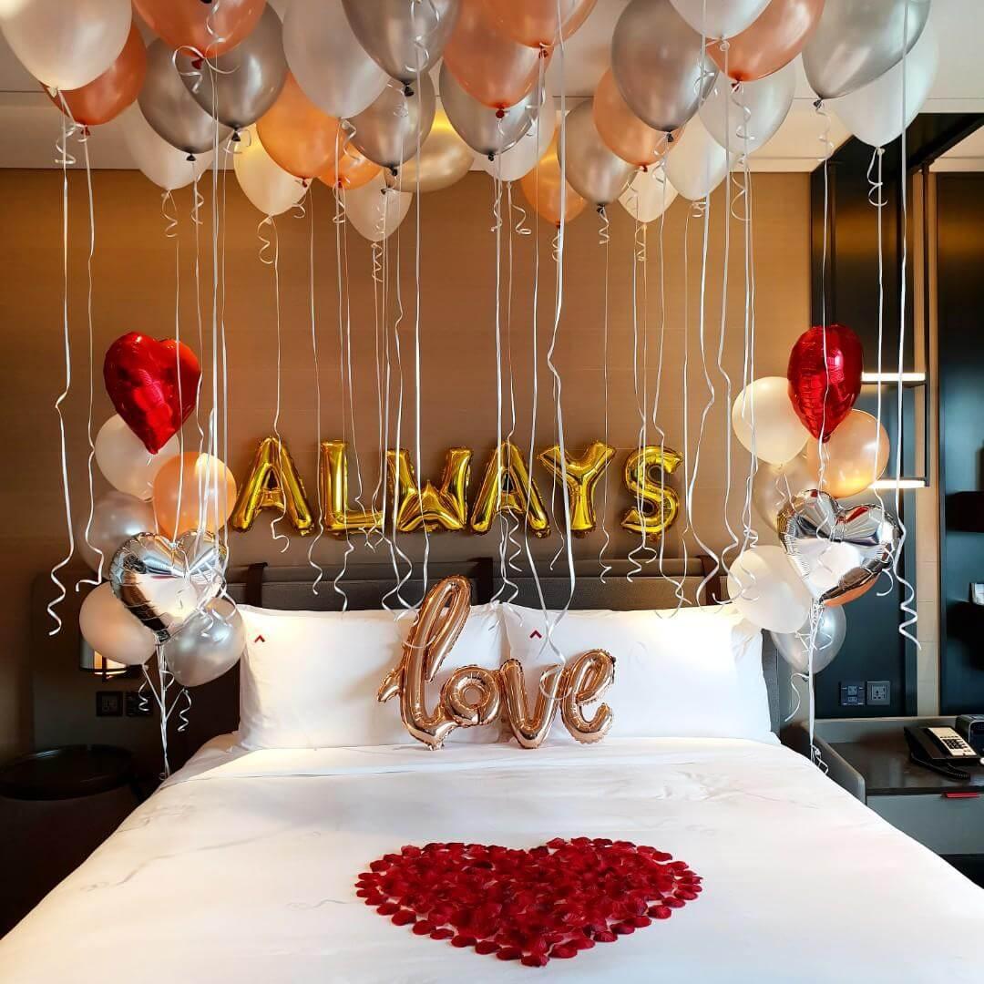 Valentine bedroom decoration