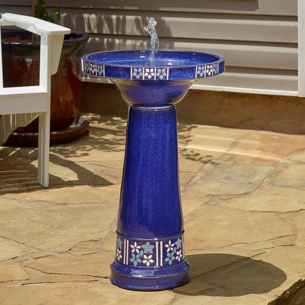solar bird bath fountain
